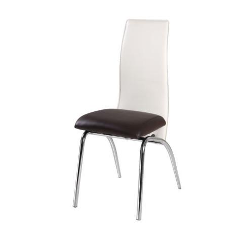Jídelní židle DOUBLE - tmavě hnědá/béžová