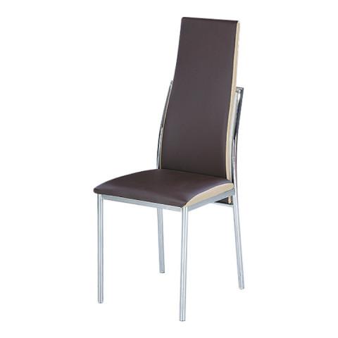 Jídelní židle ZORA - tmavě hnědá