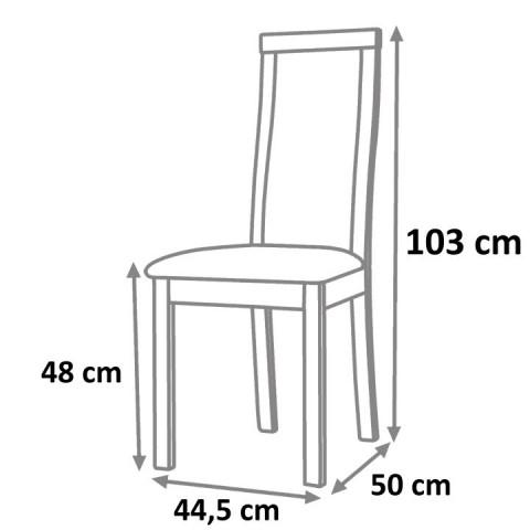 Jídelní židle DESI - wenge