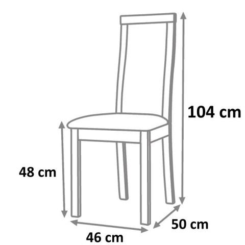Jídelní židle FELA - ořech