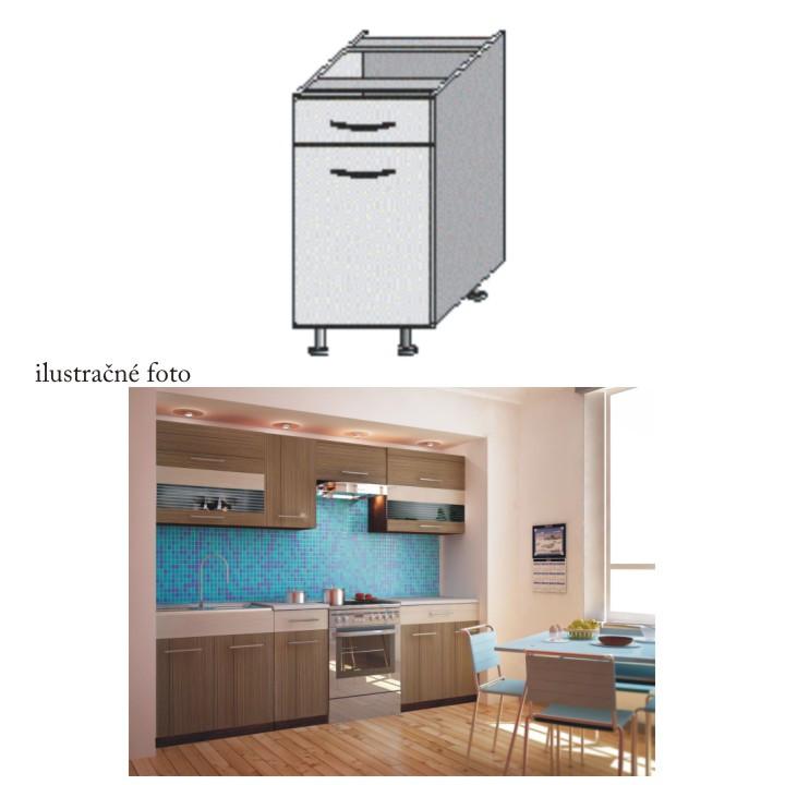 Tempo Kondela Kuchyňská skříňka JURA NEW I D-40 S1 + kupón KONDELA10 na okamžitou slevu 10% (kupón uplatníte v košíku)