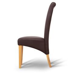 Jídelní židle JUDY - hnědá