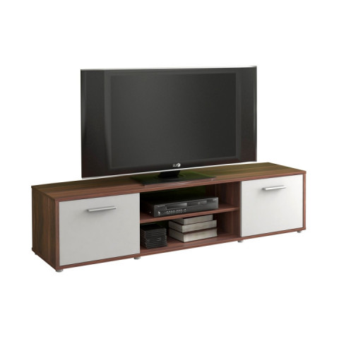 Televizní stolek ZUNO 01 - švestka/bílá