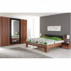 Postel + 2 noční stolky MARTINA - ořech/černá