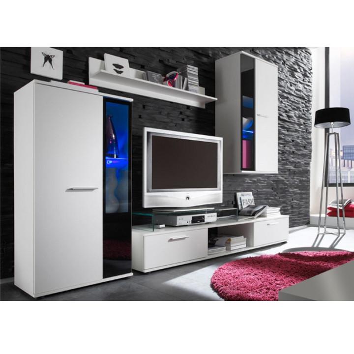 Tempo Kondela Obývací stěna SALESA - bílá + kupón KONDELA10 na okamžitou slevu 3% (kupón uplatníte v košíku)