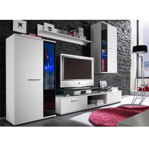 Obývací stěna SALESA - bílá