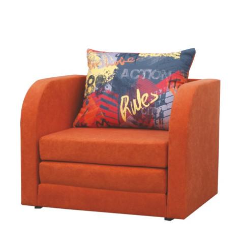 Rozkládací křeslo RENO - oranžové