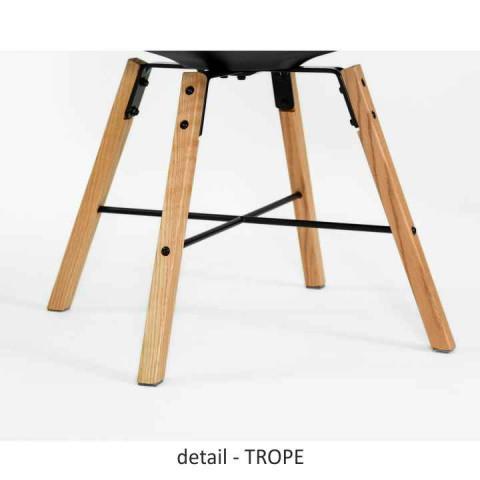 Jídelní židle BST 7045 Trope - bílá