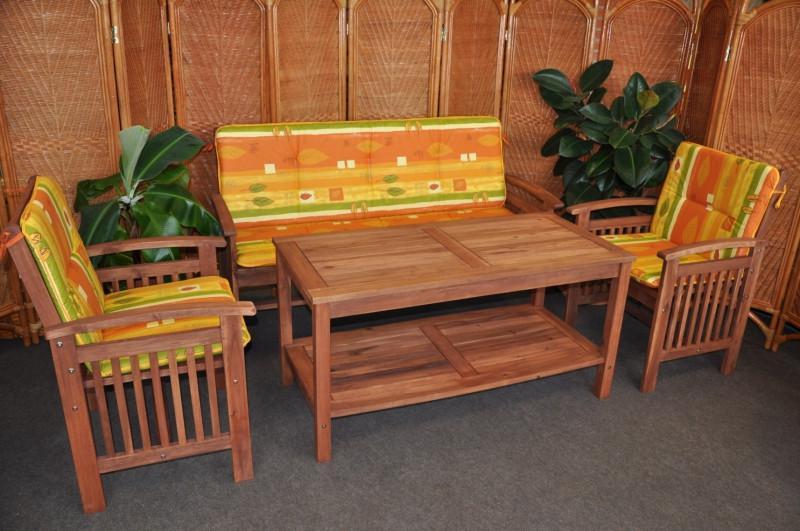 Axin Trading Zahradní set s lavicí Zelené polstry