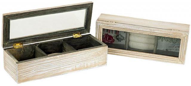 Dřevěná šperkovnice HB706043