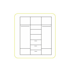 Skříň EMIO Typ 03 - bílá