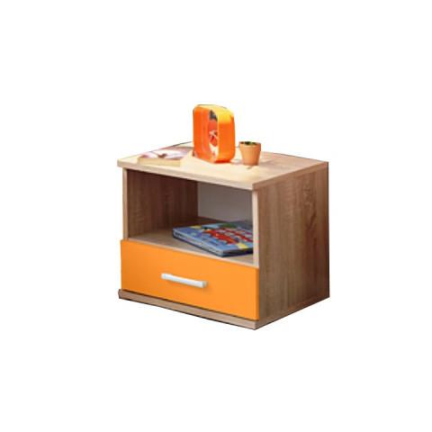 Noční stolek EMIO Typ 05 - oranžový