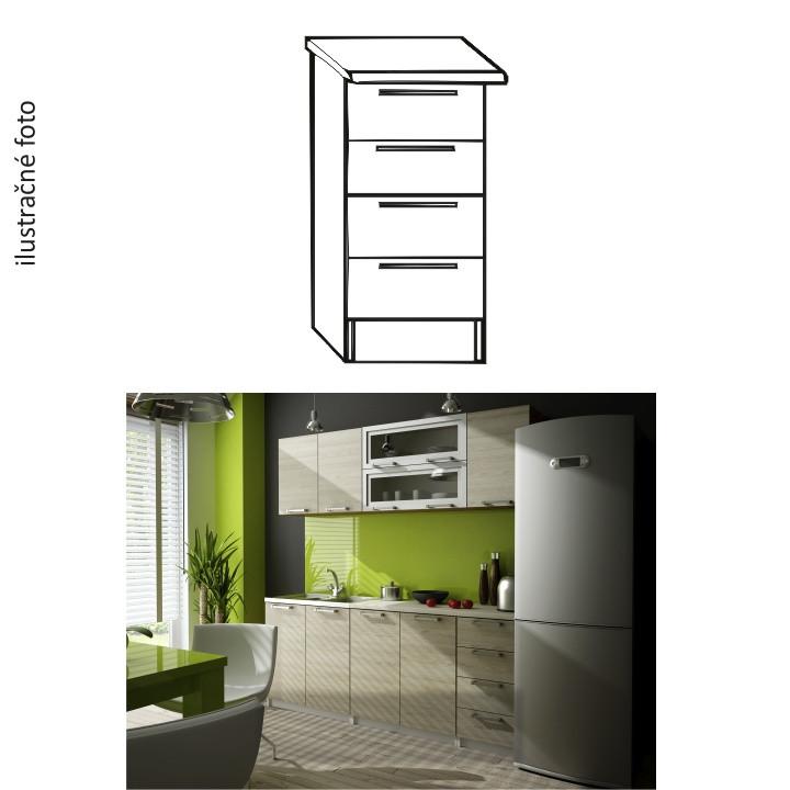 Tempo Kondela Kuchyňská skříňka IRYS DS-40 + kupón KONDELA10 na okamžitou slevu 3% (kupón uplatníte v košíku)