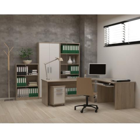 Rohový PC stůl JOHAN 11 - dub sonoma