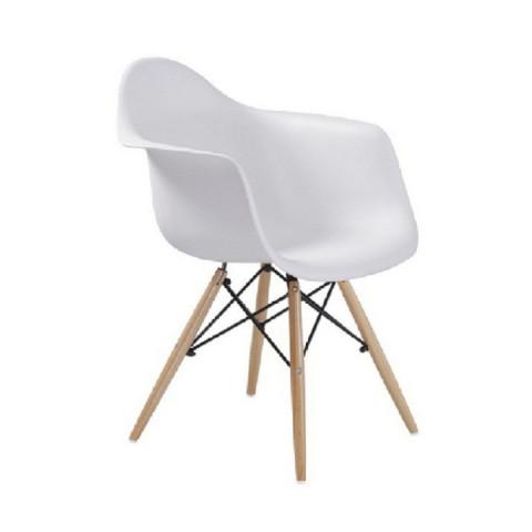 Jídelní židle DAMEN - bílá - II. jakost