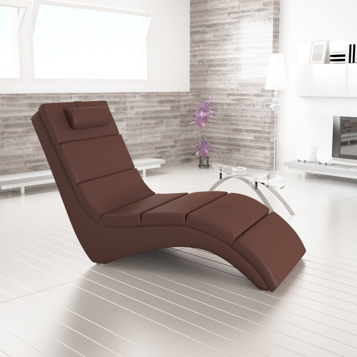 Relaxační lehátko LONG - hnědá