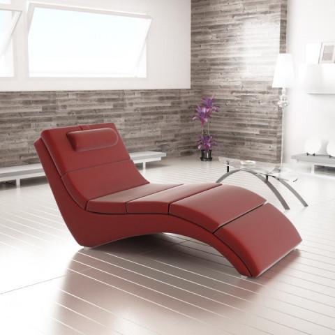 Relaxační lehátko LONG - červená