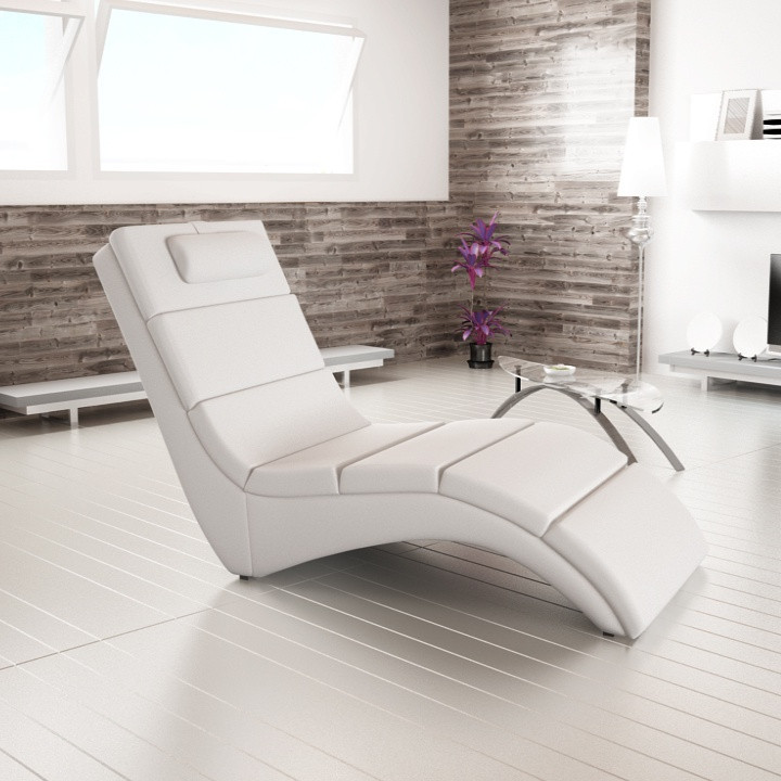 Relaxační lehátko LONG - bílá