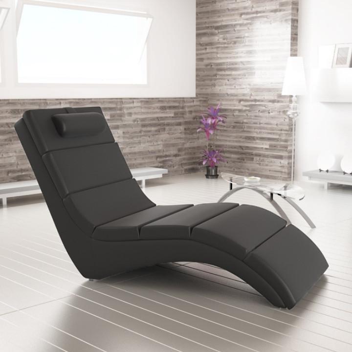 Relaxační lehátko LONG - černá