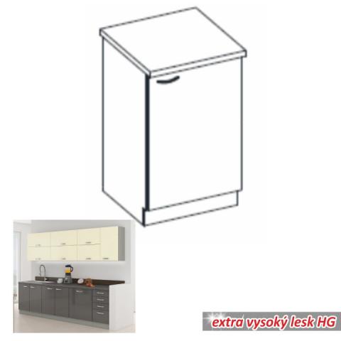 Kuchyňská skříňka PRADO 60 D 1F ZB - šedá