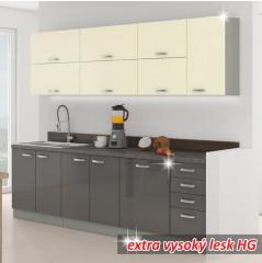 Kuchyňská skříňka PRADO 60 DG BB - šedá
