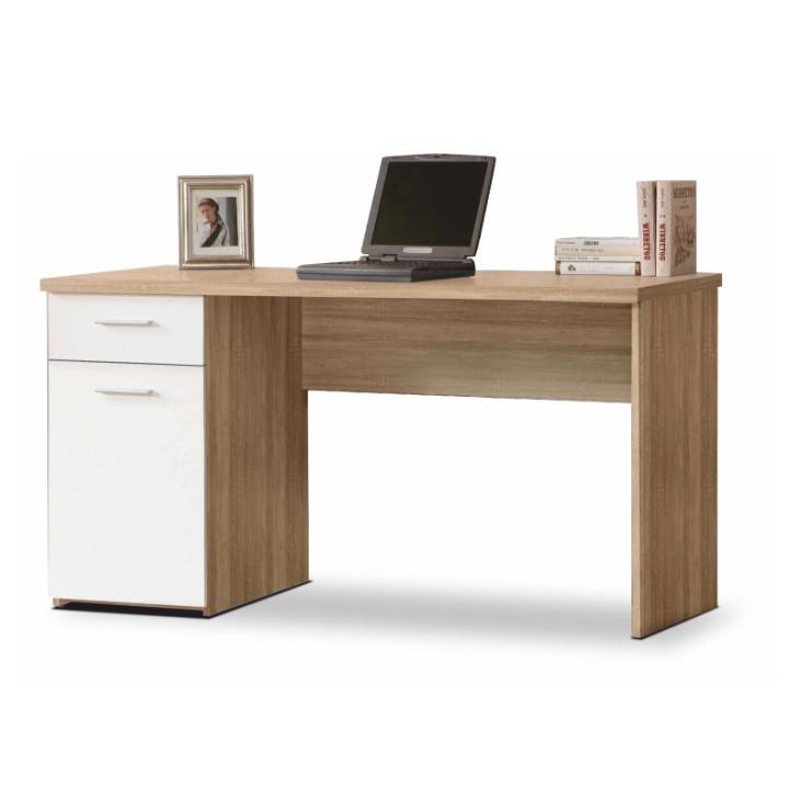Tempo Kondela PC stůl EGON - dub sonoma/bílá + kupón KONDELA10 na okamžitou slevu 3% (kupón uplatníte v košíku)