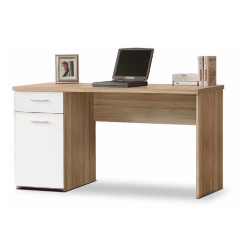 PC stůl EGON - dub sonoma/bílá
