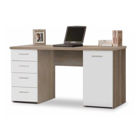 Psací stůl EUSTACH - dub sonoma/bílá