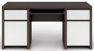 Psací stůl Kaspian BIU2D2S/160 - Wenge/bílý lesk