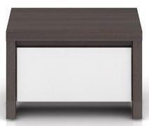 Noční stolek Kaspian KOM1S - Wenge/bílý lesk