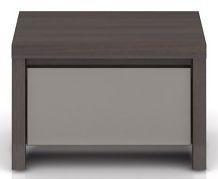Noční stolek Kaspian KOM1S - Wenge/šedý vysoký lesk