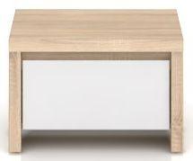 Noční stolek Kaspian KOM1S - Dub sonoma/bílý lesk