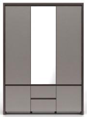 Skříň Kaspian SZF5D2S - Wenge/šedý vysoký lesk