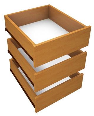 Zásuvky do skříně DUEL3D