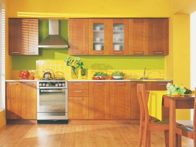 Kuchyňská linka Nika 260 Ekran masiv - olše zlatá
