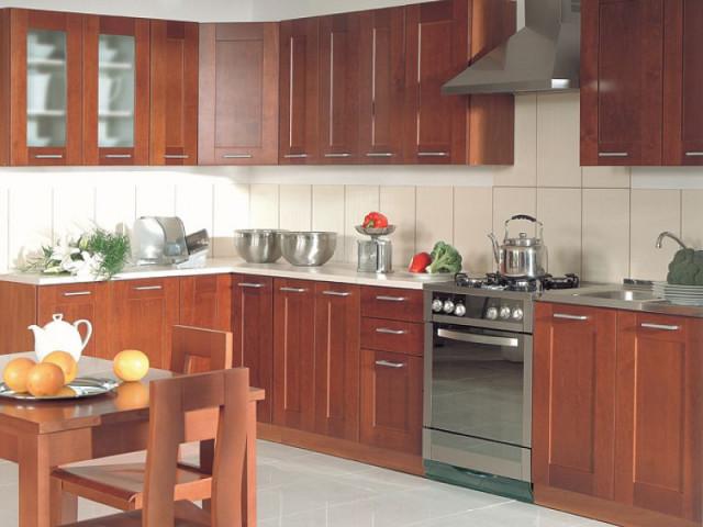 Kuchyňská linka Nika 260 Ekran masiv - olše tmavá
