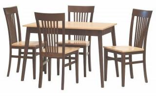 Dřevěná židle K1 variant - Sestava jídelní stůl Variant + židle K1 variant