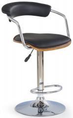 Barová židle H-19 - ořech/černá