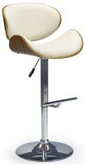 Barová židle H-44 - ořech/krémová