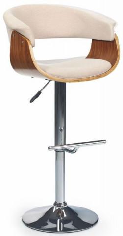 Barová židle H-45 - ořech/krémová