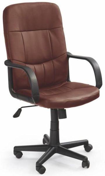 Halmar Kancelářská židle Denzel Tmavě hnědá + kupón KONDELA10 na okamžitou slevu 10% (kupón uplatníte v košíku)