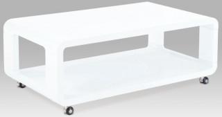 Konferenční stolek AHG-126 - WT - Bílá vysoký lesk