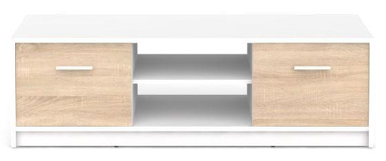 BRW Televizní stolek Nepo RTV2D Bílý