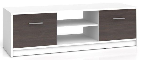 Televizní stolek Nepo RTV2D - bílá/wenge