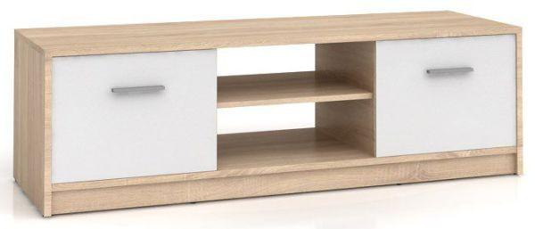 Televizní stolek Nepo RTV2D - dub sonoma/bílá