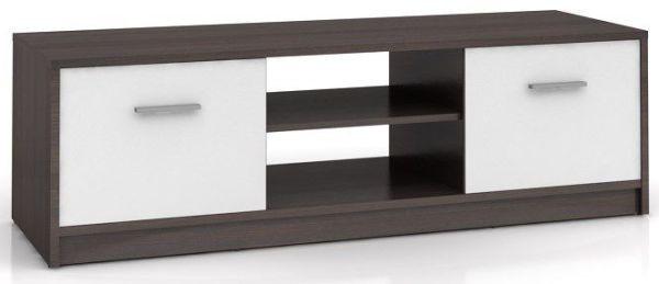 Televizní stolek Nepo RTV2D - wenge/bílá