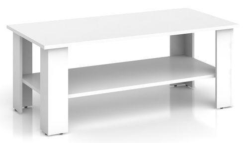 BRW Konferenční stolek Nepo LAW/115 Bílý