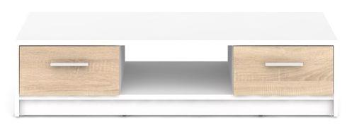 BRW Televizní stolek Nepo RTV2S Bílý + kupón KONDELA10 na okamžitou slevu 10% (kupón uplatníte v košíku)