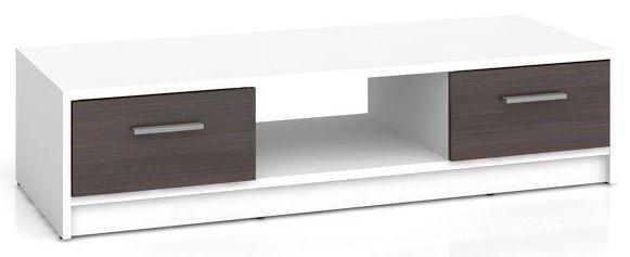 Televizní stolek Nepo RTV2S - bílá/wenge