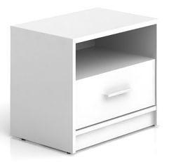 Noční stolek Nepo KOM1S - bílý